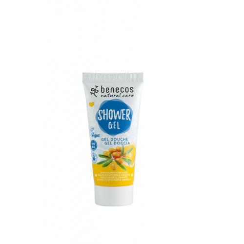 Benecos sprchový gel rakytník a pomeranč 30ml BIO, VEG
