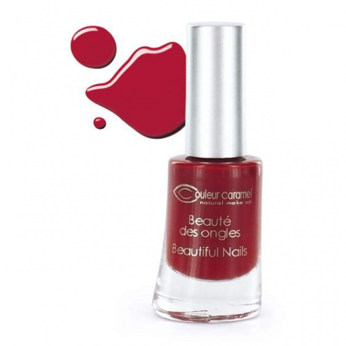 Couleur Caramel lak na nehty č.8 Matt red, 8ml 7 free