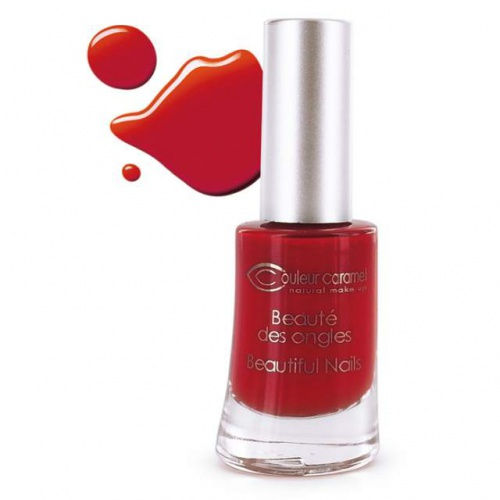 Couleur Caramel lak na nehty č.42 Matt poinsettia red 8ml 7 free