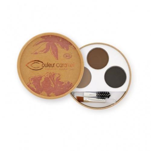 Couleur Caramel paletka na obočí pro brunetky 3 x 0,8g BIO