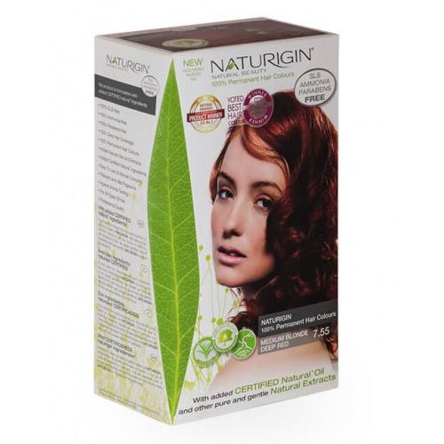 Naturigin barva na vlasy 7.55 Medium Blonde Deep Red
