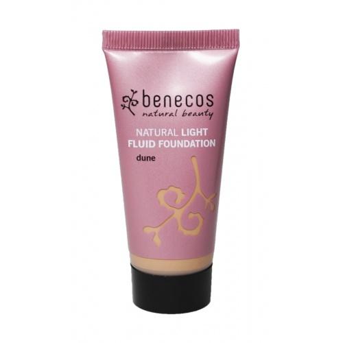 Benecos makeup Light Fluid Foundation Dune BIO, VEG