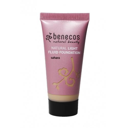 Benecos makeup Light Fluid Foundation Sahara BIO, VEG