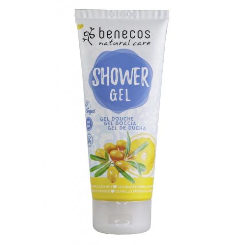 Benecos sprchový gel rakytník a pomeranč 200ml BIO, VEG