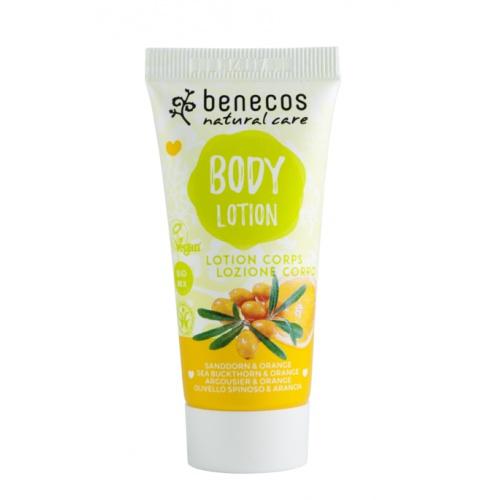 Benecos tělové mléko Rakytník a pomeranč 30ml BIO, VEG
