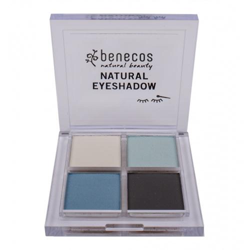 Benecos oční stíny 4paletka True blue BIO, VEG