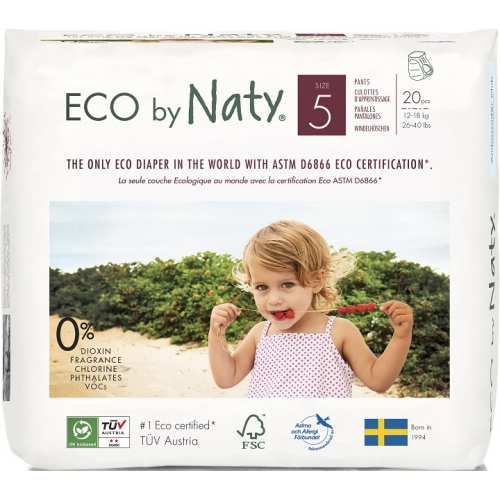 Eco by Naty natahovací plenkové kalhotky Naty Junior 12 -18kg