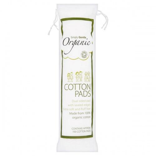 Organické vatové polštářky Simply Gentle 100 ks