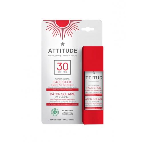 Attitude 100% minerální ochranná tyčinka na obličej a rty