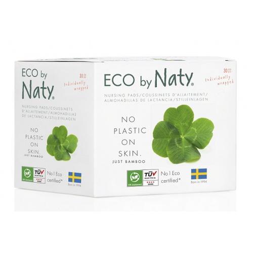 Eco by Naty dámské ECO prsní vložky Naty pro kojící ženy (30 ks)