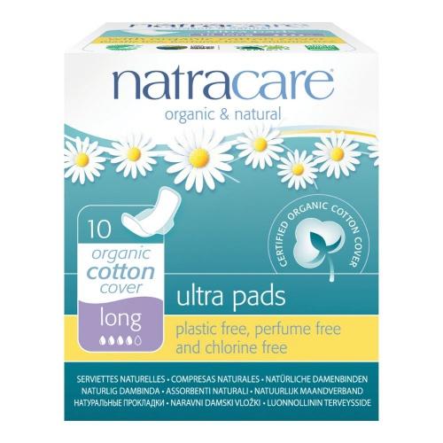 Natracare menstruační vložky Ultra LONG s křidélky