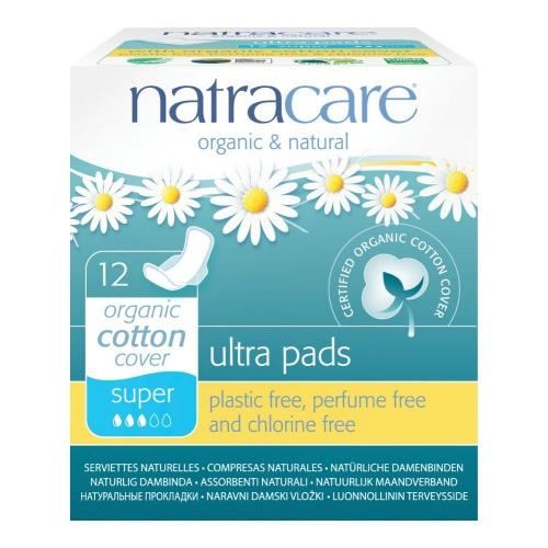 Natracare menstruační vložky Ultra SUPER s křidélky