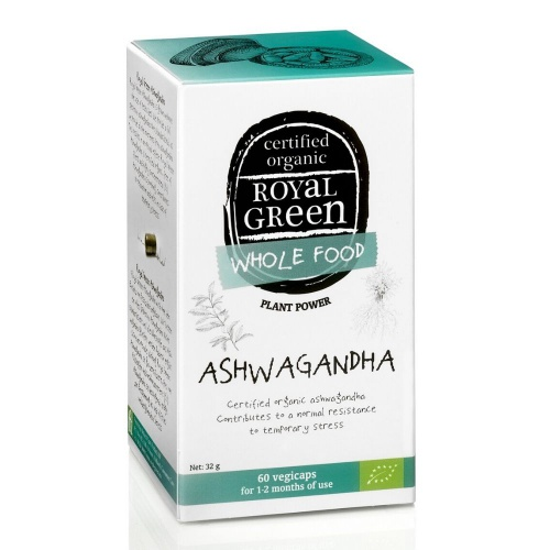 Royal Green royal Green Bio Ashwagandha 60 kapslí