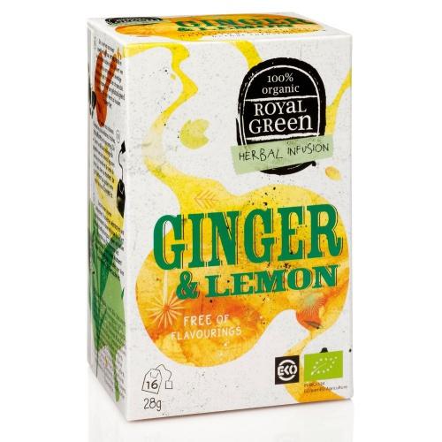Royal Green royal Green zázvorový čaj Ginger & Lemon BIO