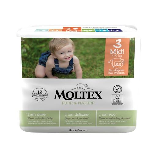 Moltex plenky Moltex Pure & Nature Midi 4-9kg (33 ks)