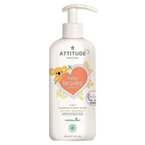 Attitude dětské tělové mýdlo a šampon 2v1 hruška