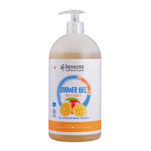 Benecos sprchový gel rodinný Fruity beauty 950ml BIO