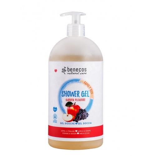Benecos sprchový gel rodinný Garden pleasure 950ml BIO