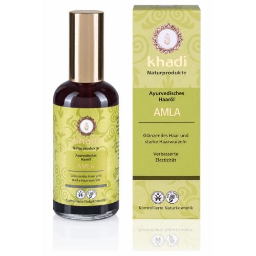 Khadi vlasový olej AMLA pro zdraví a lesk 100ml