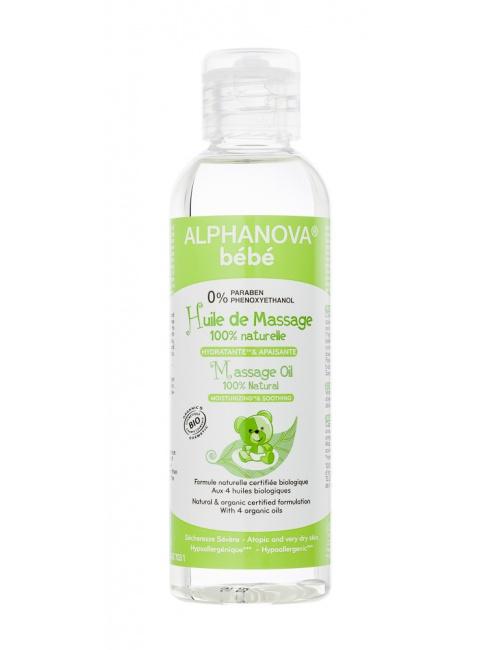 Alphanova hydratační masážní olej 100ml BIO