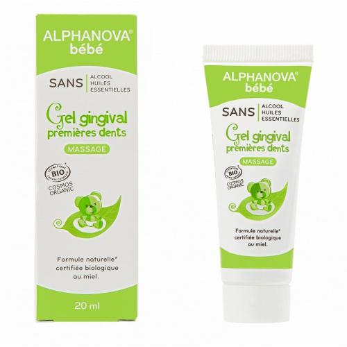 Alphanova gel gingival na dětské zoubky 20ml BIO