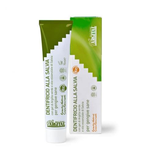 Zubní pasta se šalvějí a zeleným jílem