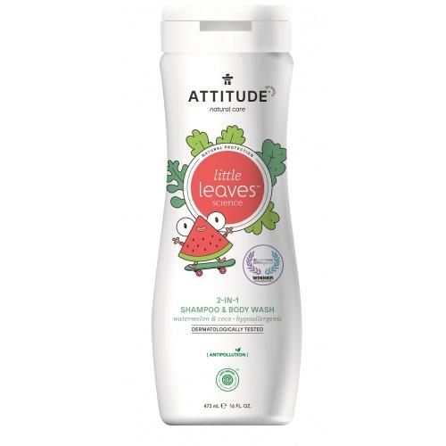 Dětské tělové mýdlo a šampon 2 v 1 meloun, kokos