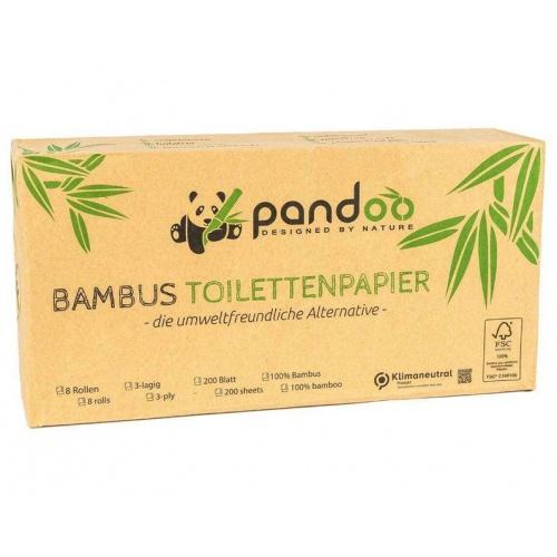 Pandoo bambusový toaletní papír 3vrstvý (8 ks)
