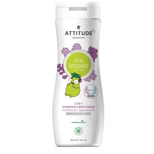 Dětské tělové mýdlo a šampon 2 v 1 vanilka hruška