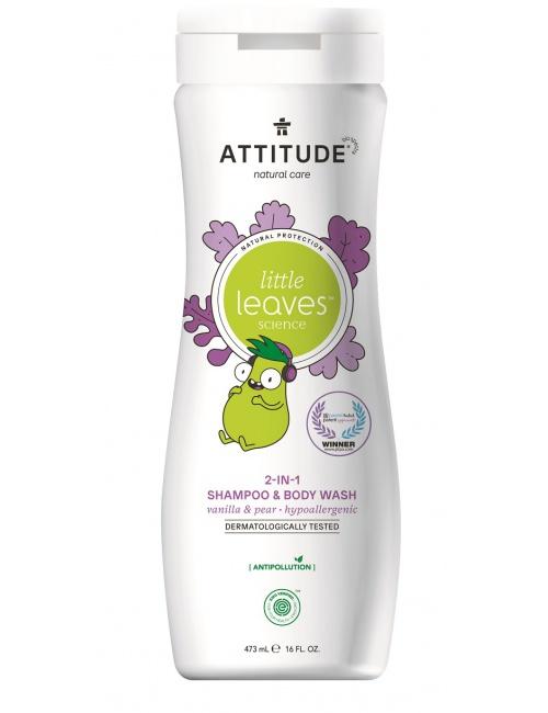 Attitude dětské tělové mýdlo a šampon 2v1 vanilka hruška