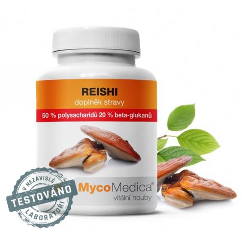 MycoMedica doplněk stravy Reishi 90 kapslí 50%