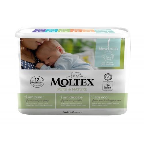 Moltex plenky Moltex Pure & Nature Newborn 2-4kg (22 ks)