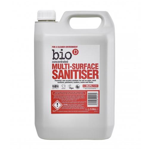 Bio-D čistič na různé druhy povrchů s dezinfekcí - 5l