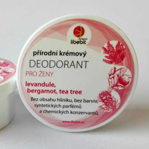 Přírodní krémový deodorant pro ženy mini 15ml
