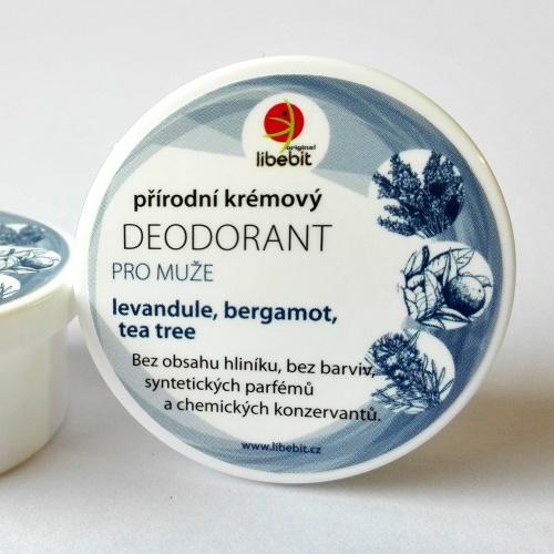 Přírodní krémový deodorant pro muže mini 15ml