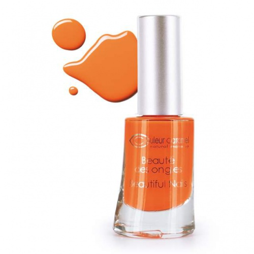 Couleur Caramel lak na nehty č.70 Matt orange coral 7 free