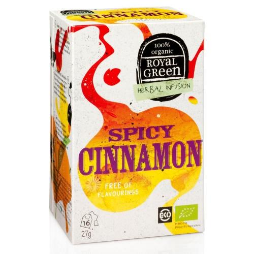 Natures Care royal Green bylinný čaj Spicy Cinnamon BIO 16 x 1,
