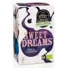 Bylinný čaj s heřmánkem Sweet Dreams, porcovaný v BIO kvalitě. Pohodlně se po dlouhém dni posaďte a užijte si náš čaj s BIO certifikovaným heřmánkem, lipovým květem a levandulí, který přispěje ke klidnému usínání. Uklidňující chuť těchto bylin osvobodí Vaší mysl a zavede ji do světa sladkých snů.