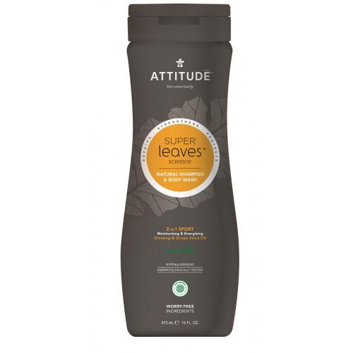 Attitude přírodní pánský šampón a mýdlo na normální vlasy 2v1 473ml