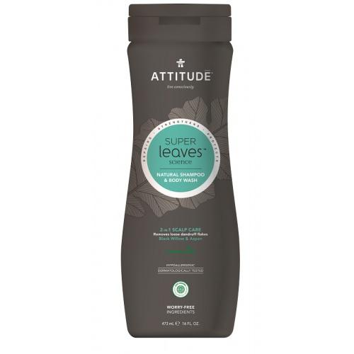 Attitude přírodní pánský šampón a mýdlo na lupy 2v1 473ml