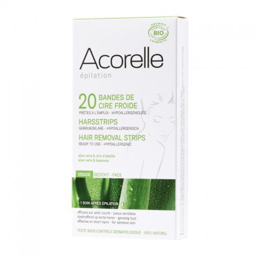 Acorelle depilační proužky na obličej (24 ks)