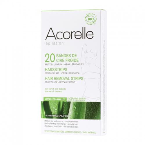 Acorelle depilační proužky na podpaží a třísla 20ks