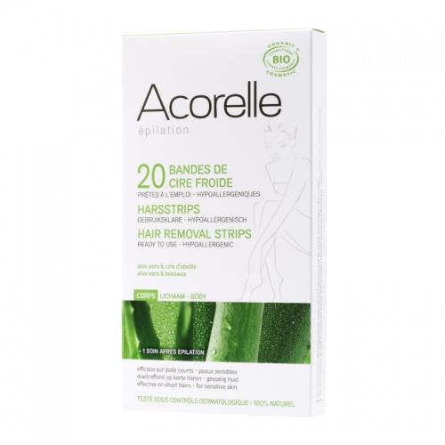 Acorelle depilační proužky na tělo 20ks