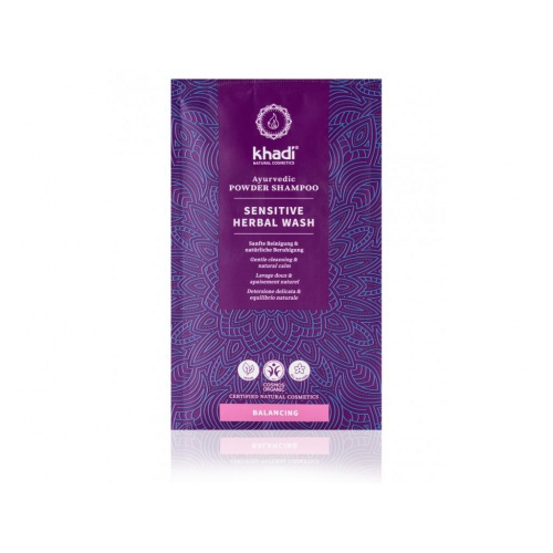 Khadi práškový šampon Sensitive herbal wash 50g