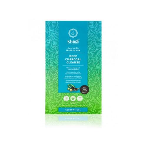 Khadi vlasová maska hloubkové čištění Aktivní uhlí 50g