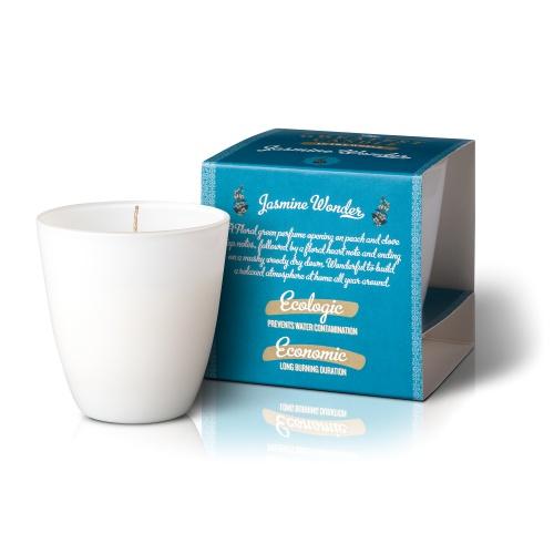 The Greatest Candle vonná svíčka ve skle (130g) Jasmínový zázrak