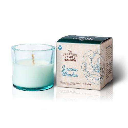 The Greatest Candle vonná svíčka ve skle (75 g) Jasmínový zázrak