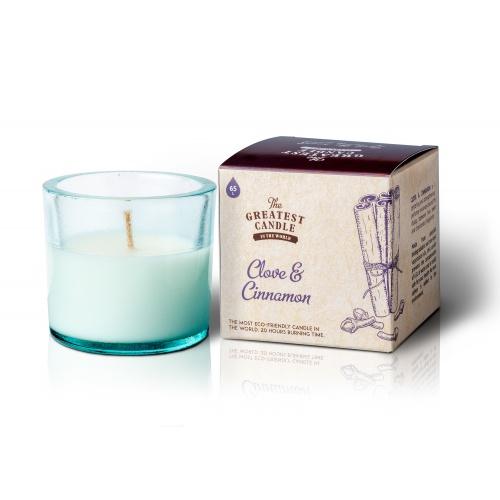 The Greatest Candle vonná svíčka ve skle (75 g) Hřebíček a skořice