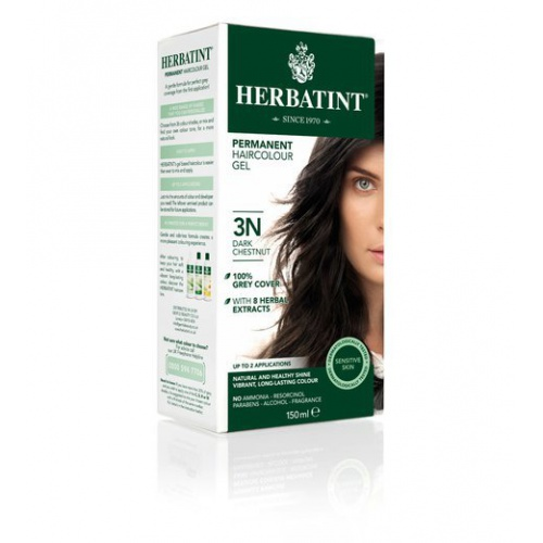 Permanentní barva na vlasy tmavý kaštan 3N