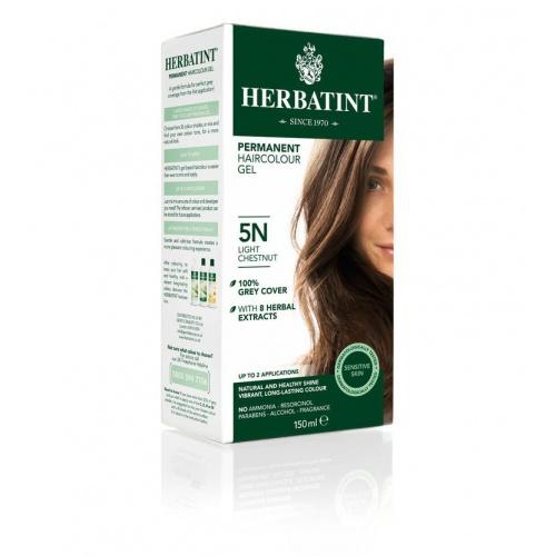 Permanentní barva na vlasy světlý kaštan 5N